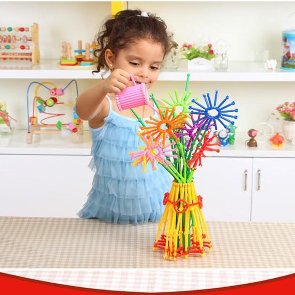 [GIÁ CỰC SỐC] Bộ đồ chơi xếp hình que 800 chi tiết nhiều màu | Hàng Bán Chạy