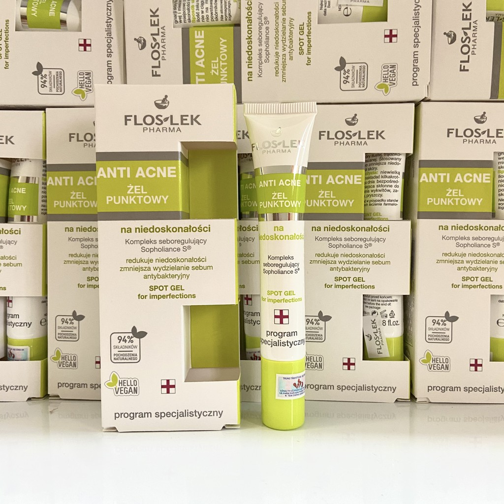Gel ngừa mụn diệt khuẩn Floslek Pharma Antibacterial Intense Gel 20ml