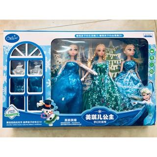 Bộ Ba Búp Bê Elsa + Set trang phục