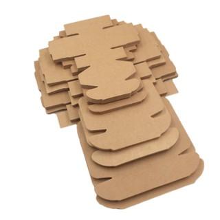 [ 1.000vnđ ] Hộp giấy carton giấy kraf bìa cứng tháo gấp tiện lợi nhiều kích cỡ