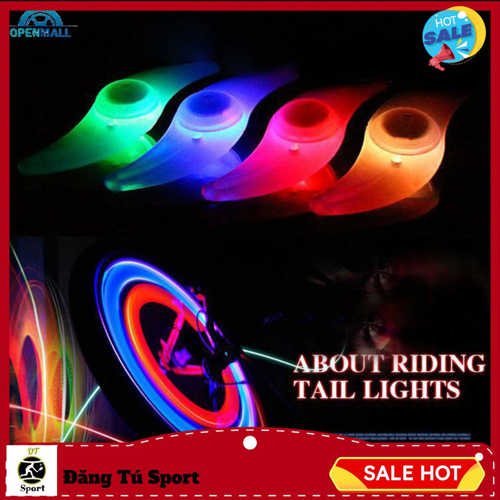 Đèn led gắn bánh xe Đạp chống Thấm Nước, hình cánh quạt, chất lượng cao