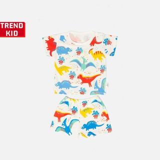 [Mã TREND20 giảm 15% đơn 99K] Bộ quần áo bé trai bé gái chất liệu 100% cotton hình khủng long 2 michley