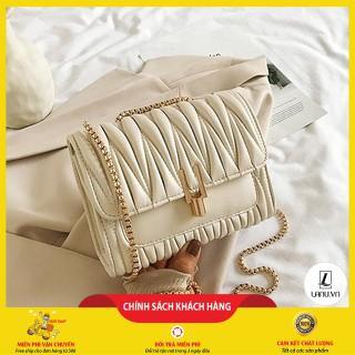 Túi xách nữ đẹp, túi xách khóa chữ y sóng đẹp, thiết kế sang trọng, Phong Cách Hàn 2020 Hot💖