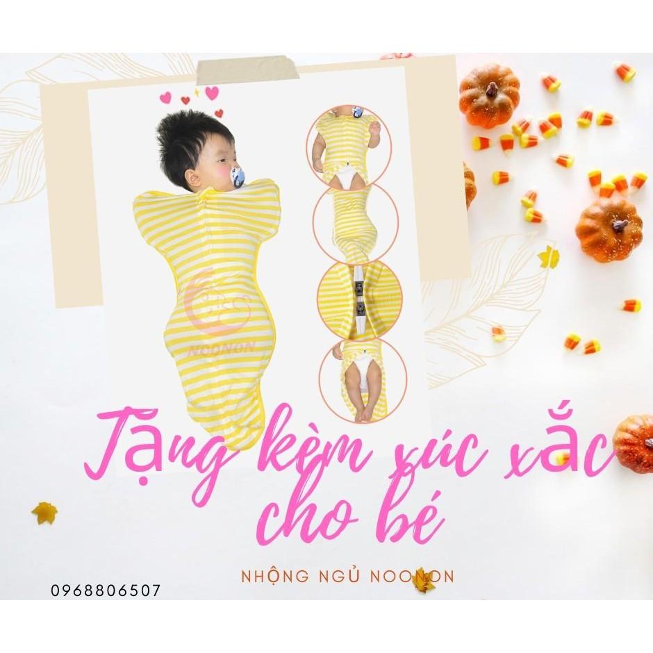 Nhộng Chũn ✨ Freeship ✨  Nhộng Noonon giúp bé ớ sinh ngủ ngon - Túi ngủ cho bé- Tặng kèm 1c xúc xắc