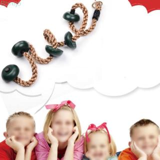 Climbing Rope Children Playing rope Durable Outdoor Tree hanging Climbing Rope W/ platforms Adult 2.1M For fun