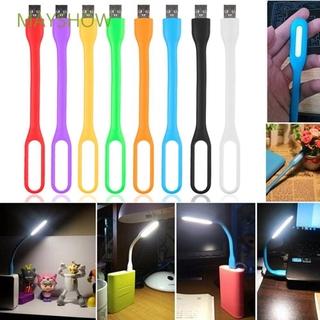 Set 2 Đèn Led Silica Gel Usb Mini Linh Hoạt Nhiều Màu Thời Trang Cho Laptop / Notebook