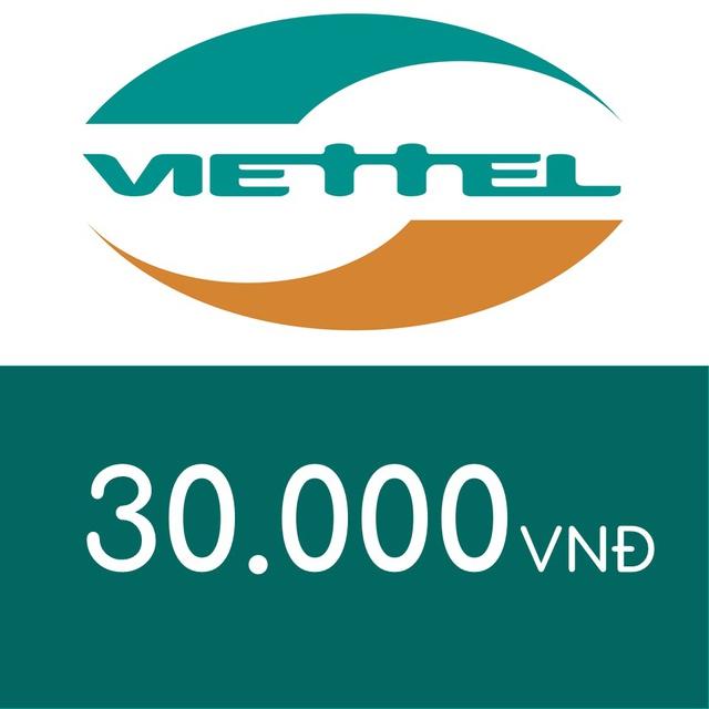 Mã thẻ điện thoại Viettel 30K