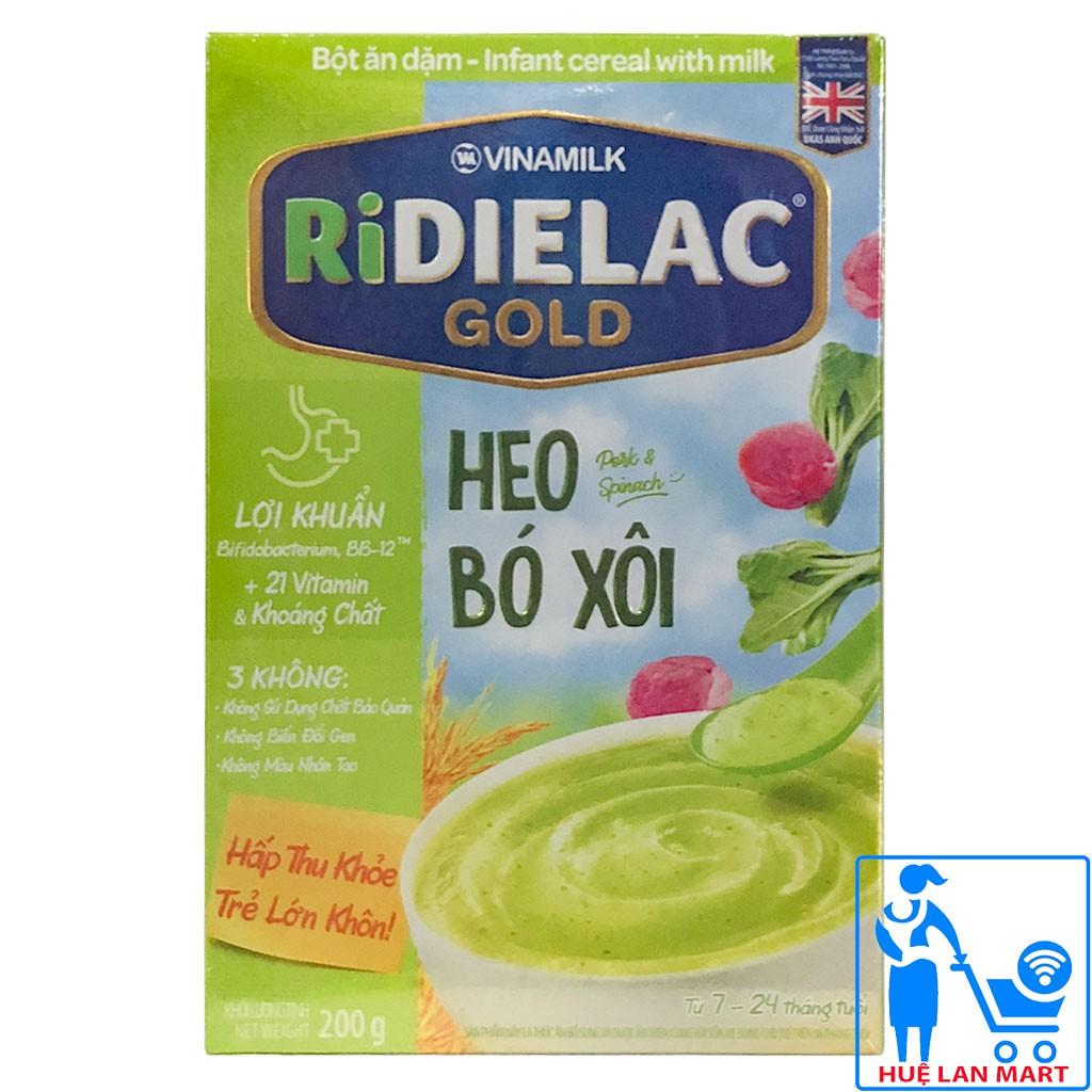 Bột ăn dặm Ridielac heo bó xôi 200g (7-24 tháng)
