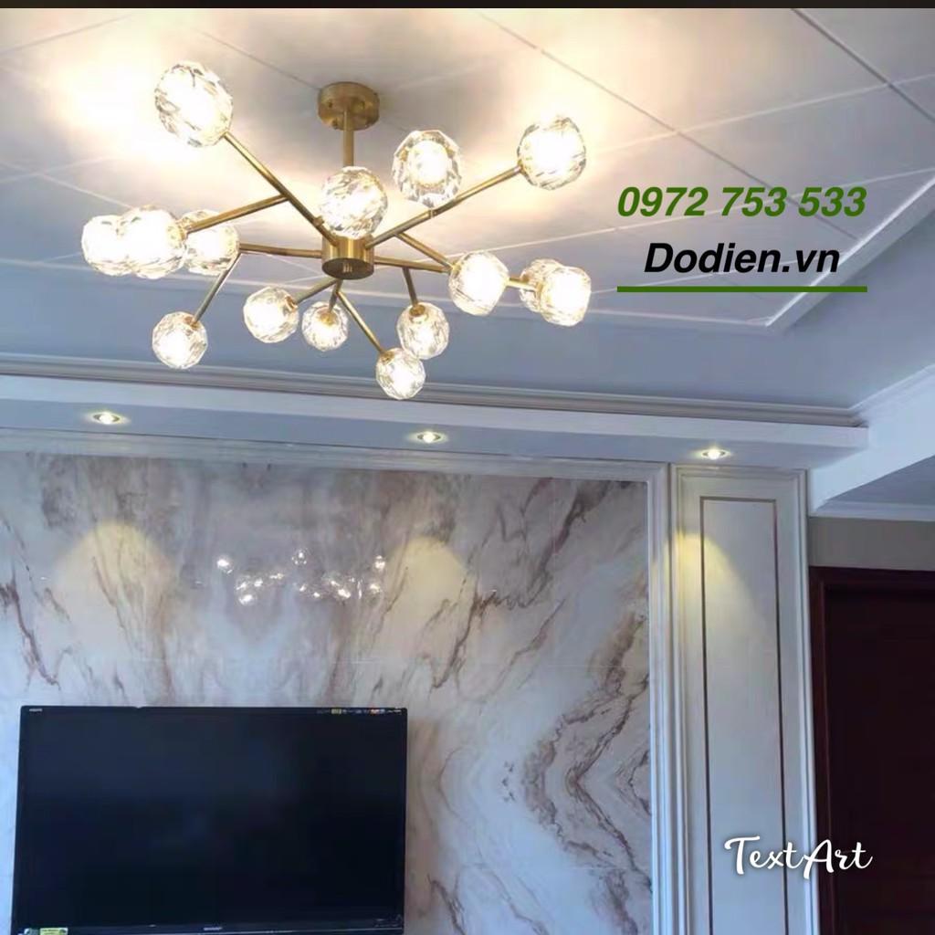 Đèn chùm phale 15 bóng decor phòng khách,đèn trang trí bàn ăn