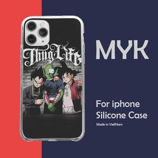 Ốp Lưng Thug life Goku Bảy viên ngọc rồng cho Iphone 5 6 7 8 Plus 11 12 Pro Max X Xr GOKPOD00721