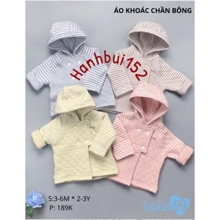 [Mã FASHIONRN15 hoàn ngay 15k xu đơn từ 99k] Bons99 - Áo khoác trần bông Bons99 cho bé từ 6-9 9-12 12-18 18-24 2-3y thumbnail