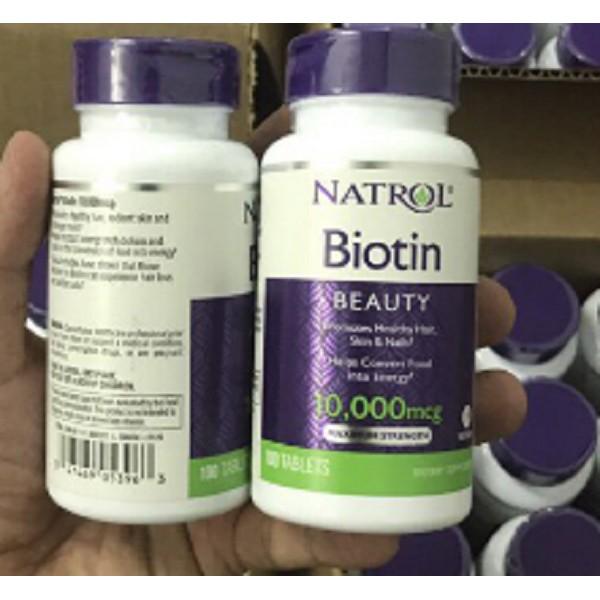 [Mẫu mới] Natrol Biotin 10000 mcg Viên uống hỗ trợ mọc tóc 100 viên/hộp - 2607670 , 54752038 , 322_54752038 , 181250 , Mau-moi-Natrol-Biotin-10000-mcg-Vien-uong-ho-tro-moc-toc-100-vien-hop-322_54752038 , shopee.vn , [Mẫu mới] Natrol Biotin 10000 mcg Viên uống hỗ trợ mọc tóc 100 viên/hộp