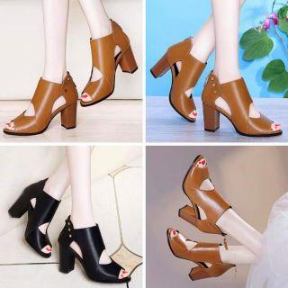 Giày cao gót đẹp/Giày gót vuông phong cách