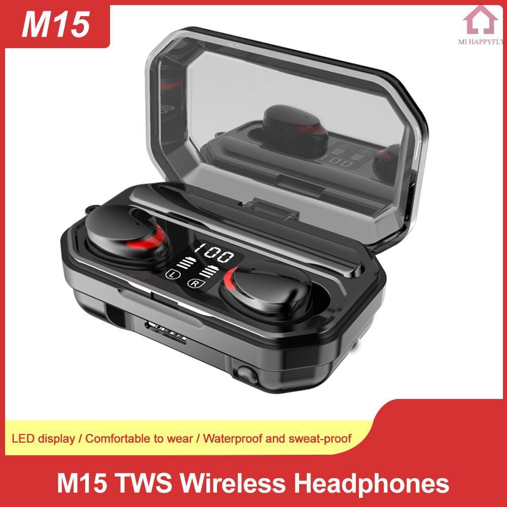 Bộ Tai Nghe Bluetooth Không Dây Mi M15 Tws Ipx5.0 Ipx7 Chống Nước 2000mah