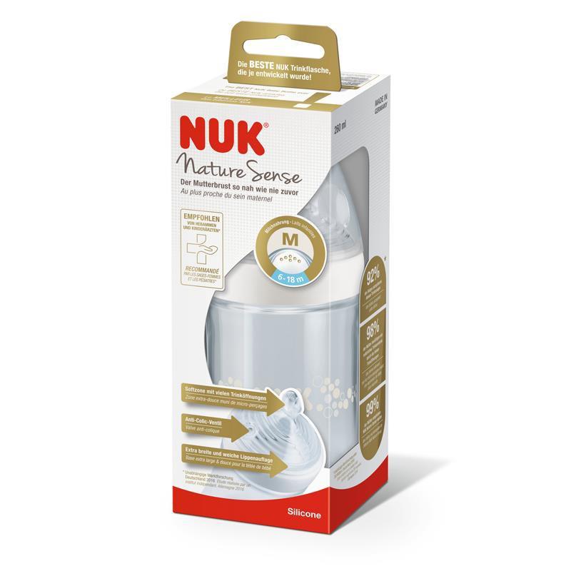 Bình sữa NUK PP Nature Sense 150ml - 260ml núm...