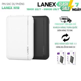 Pin dự phòng Lanex LPB-N19 2 cổng USB 2.1A, 5000mah, có đèn led, tương thích nhiều thiết bị thumbnail