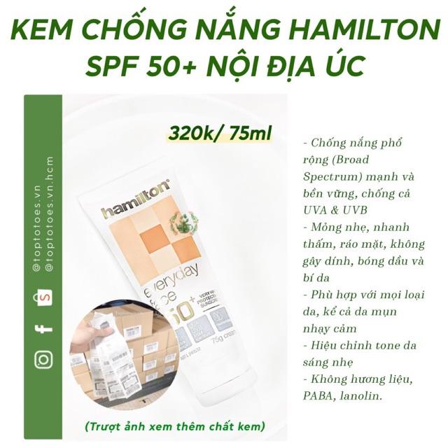 KEM CHỐNG NẮNG HAMILTON SPF 50+ NỘI ĐỊA ÚC