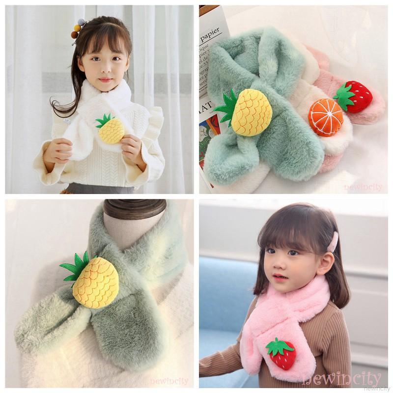 Khăn choàng cổ giữ ấm mùa đông kiểu dáng Hàn Quốc xinh xắn dành cho các bé