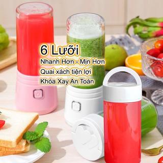 Máy Xay Sinh Tố Cầm Tay Mini 6 Lưỡi Juice Cup - Máy Xay Sinh Tố Mini Bảo Hành 12 Tháng