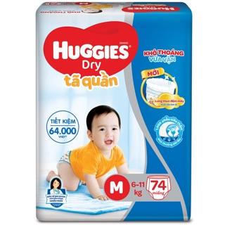 Tã quần Huggies mẫu mới (Đệm mây co giãn) M76/L68/XL62/XXL56