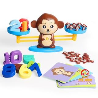 Yêu Thích[Mã TOYJAN hoàn 20K xu đơn 50K] Bộ Đồ Chơi Khỉ Toán Học Cân Bằng Thông Minh Monkey Balance Cho Bé Học Số Đếm