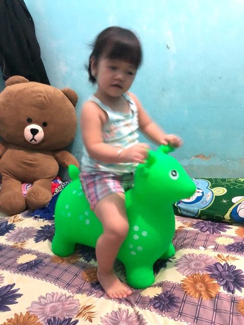 Đồ chơi thú nhún bơm hơi hình con hươu hàng Việt Nam