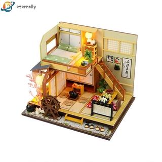 eternally 11.24 Japan Style Building Handmade Assembly Wood Hut DIY Miniature Dollhouse
