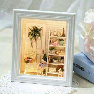 Mô hình nhà gỗ búp bê dollhouse DIY – W005 Sunshine Zakka Room