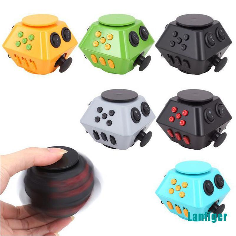 【Lanfiger】Spinner Cube Antistress Magic Stress Cube Relieve Anxiety Boredom Finger Cube