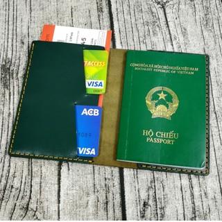 Passport cover, ví đựng passport, hộ chiếu da bò handmade - PP619 thumbnail