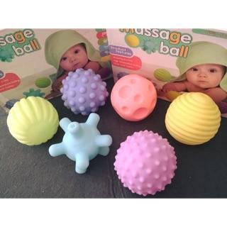 Set 6 bóng phát triển giác quan an toàn cho bé sơ sinh, hàng xuất Âu