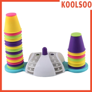 [KOOLSOO] Colorful Stacking & Nesting Cups – 32 Cups Fun Color Learning Toy – Great Toy for Baby Toddler & Kids – Preschool Game