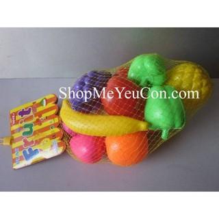 Túi đồ chơi hoa quả bằng nhựa cho bé