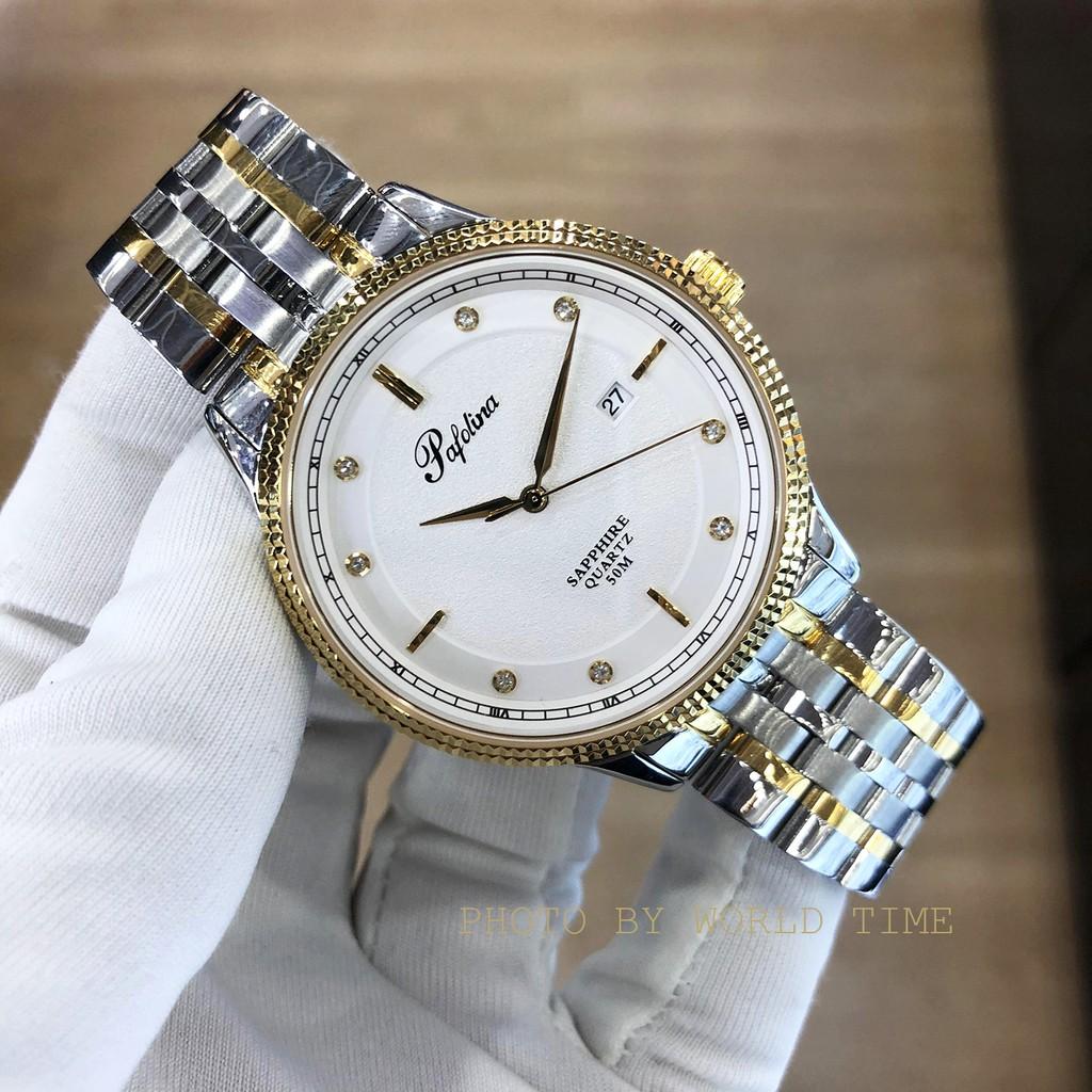Đồng hồ nam Pafolina 5026M dây thép không gỉ , kính sapphire chống xước , chống nước 5atm , bảo hành 3 năm