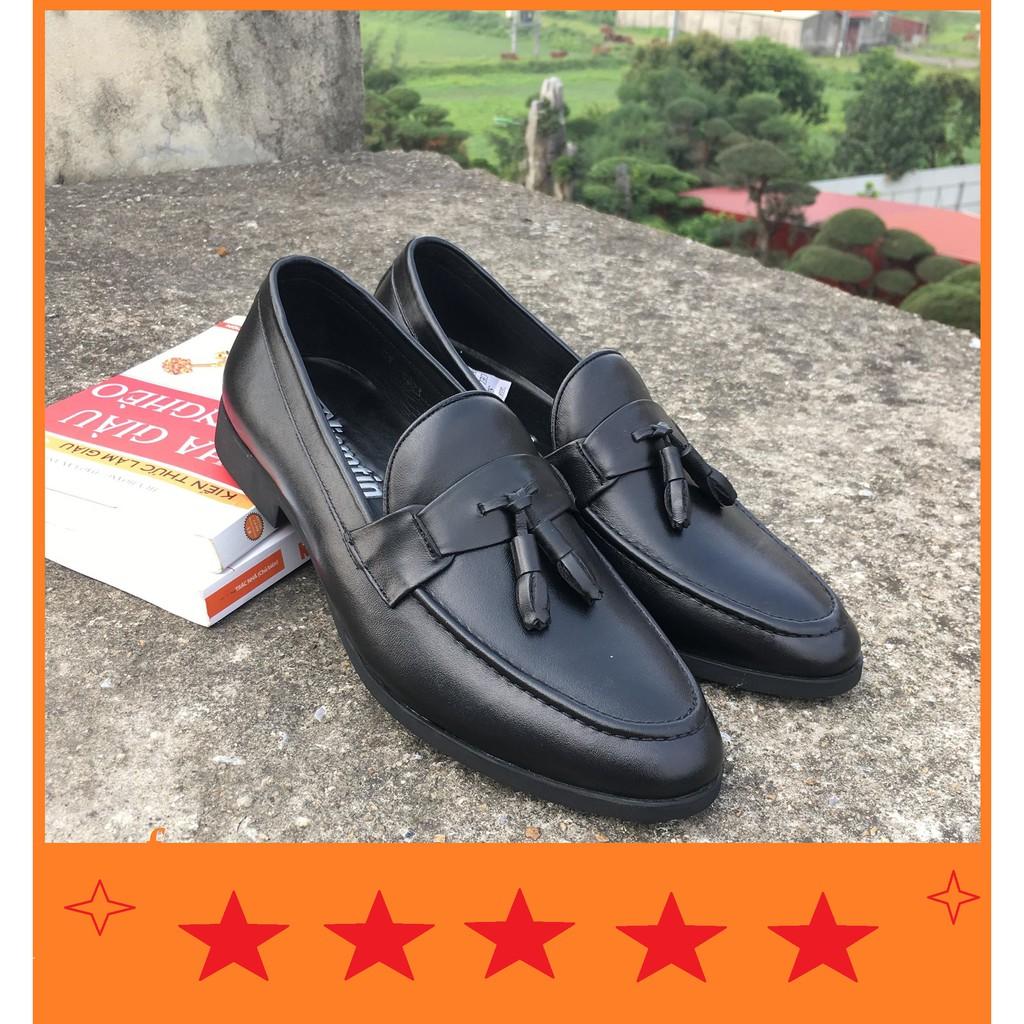 [MUA 1 TẶNG 1] Giày Lười Da Bò Thật GL-04 ( Tặng 1 đôi tất khử