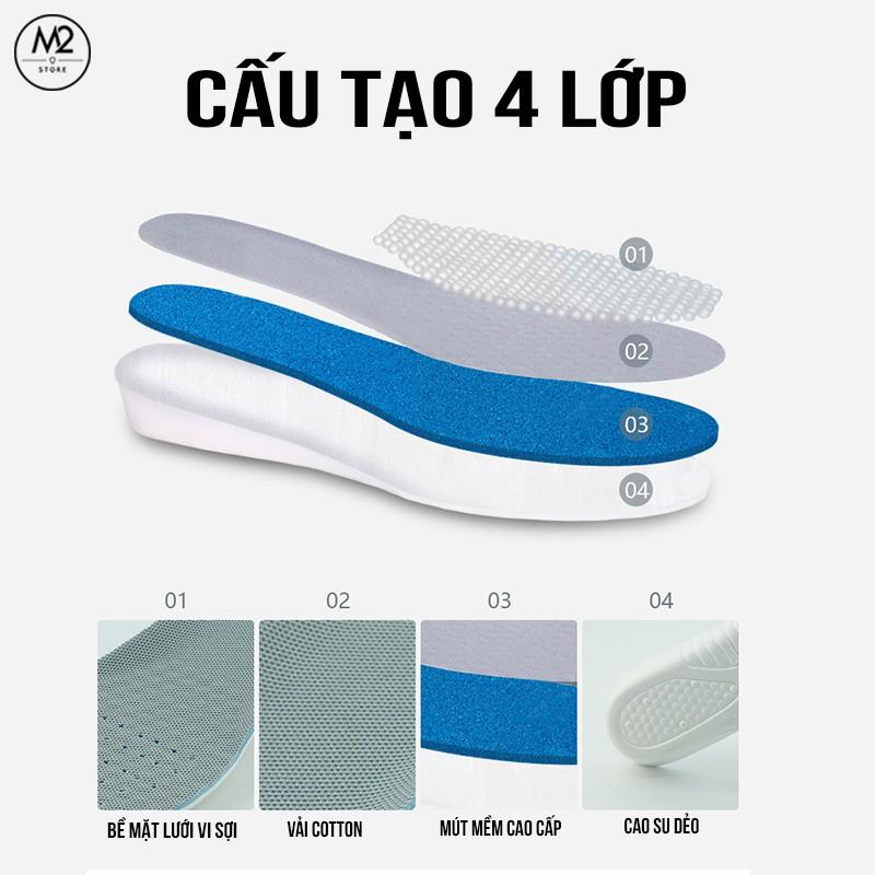 Cặp lót giày tăng chiều cao cao su độn đế tăng 1,5-3cm - Loại nguyên bàn chân - L13