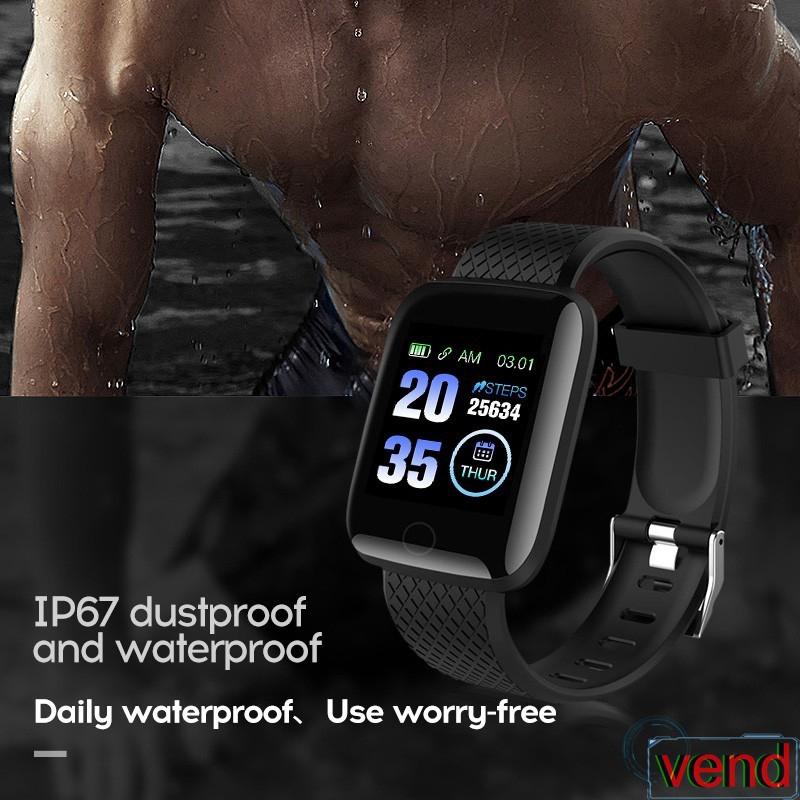 Đồng hồ thông minh 116 Plus chống nước tốt nhiều chế độ tiện dụng chất lượng cao