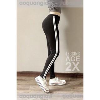 Quần legging thun 2 sọc (2 màu)
