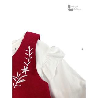 Vây yếm đỏ pha tay trắng dành cho bé