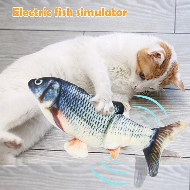 Đồ chơi trẻ em - cá nhảy tự động thông minh dùng cho bé trai gái, mèo con