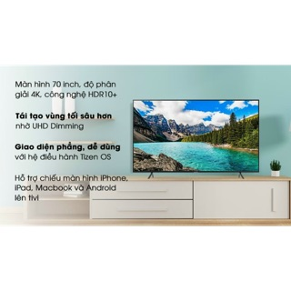 Smart tivi Samsung 4K 70inch UA70RU7200. New