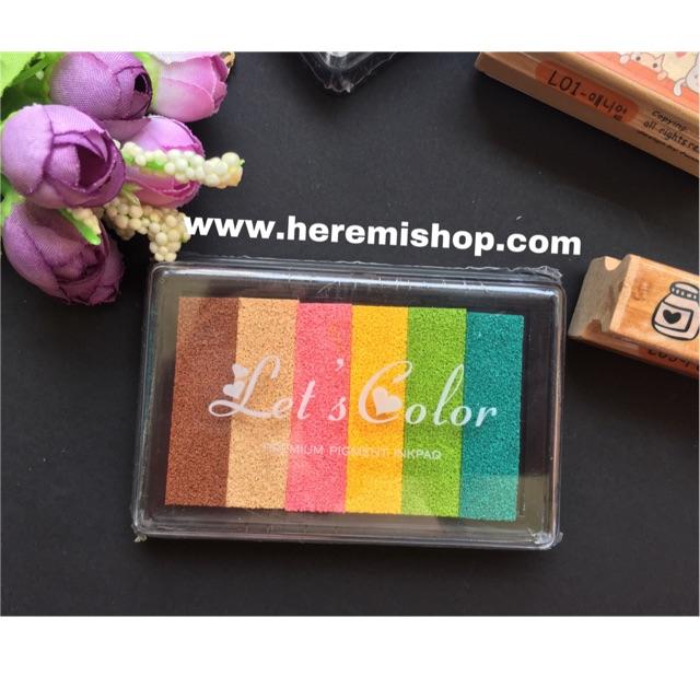Hộp mực 6 màu let's color - 2841682 , 1153012163 , 322_1153012163 , 28000 , Hop-muc-6-mau-lets-color-322_1153012163 , shopee.vn , Hộp mực 6 màu let's color