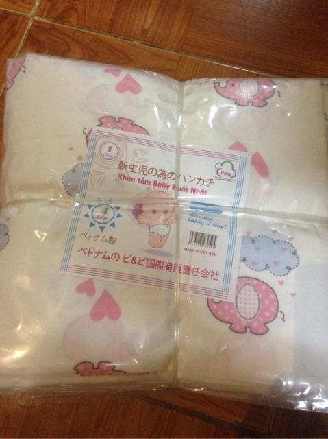 Khăn xô tắm xuất Nhật in hình