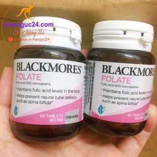 Viên Uống Blackmores Folate 500mcg 90 Viên - bổ sung axit folic (acid folic) cho bà bầu - Úc đủ bill Chemist thumbnail