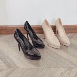[Mã FASHIONG10 giảm 10k đơn 50k] [Sỉ giày VNXK] Giày cao gót da bóng gót nhọn 12p đúp trước hàng cao cấp -Kèm ảnh thật thumbnail