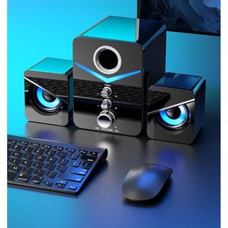 Loa Máy Tính MC Bộ 3 Loa Vi Tính USB Nghe Nhạc Siêu Hay Âm Thanh Super Bass Dùng Cho Máy Tính (Bảo hành 12 tháng)