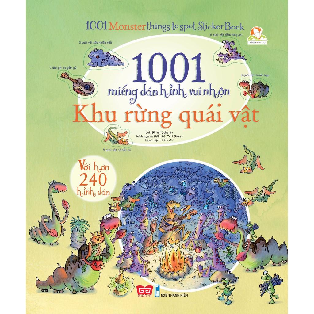 Sách - 1001 miếng dán hình vui nhộn - Khu rừng quái vật