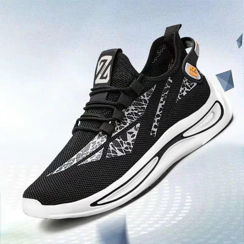 Giày thể thao nam ZZ có 2 màu đen & trắng chất vải thoáng khí khử mùi đế cao su êm mềm giá rẻ hot 2020