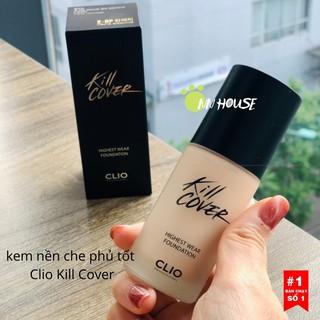 Kem nền Clio Kill Cover Highest Wear Foundation SPF35 PA++ mịn da, che khuyết điểm, giảm nếp nhăn - NN HOUSE thumbnail