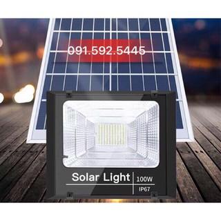 Đèn Led Pha Năng Lượng Mặt Trời 100W,IP67, Sáng Liên Tục 8h,Có Chế Độ Báo Pin Sạc Đầy. (Video thực tế)